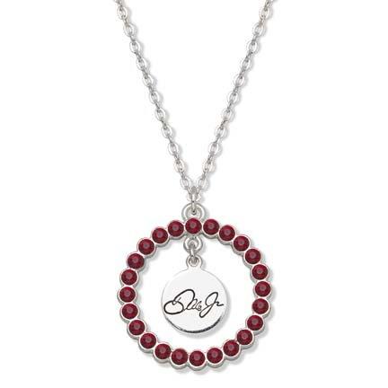 Dale Earnhardt Jr. Nation Spirit Crystal Logo Wreath Necklace