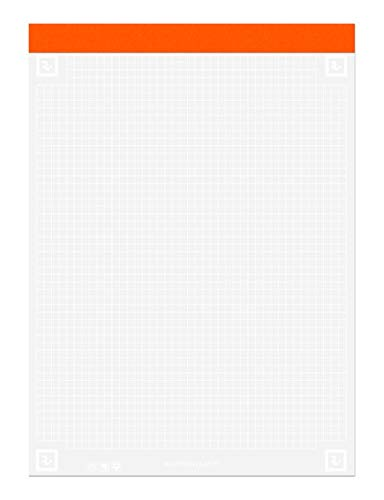 """Roaring Spring Whitelines 5x5 Graph Ruled Legal Pad, 3 Pack, Digitally Download Your Notes, FREE App, 8.5"""" x 11.75"""" 40 Sheets"""