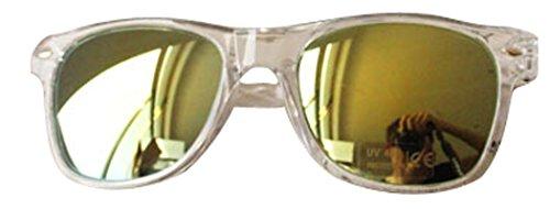 TomYork Fashionable Stylish Unisex Colorful Sunglasses Plastic UV400 For Teenagers(White)