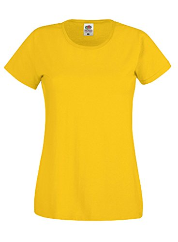Fruit of the Loom - Camiseta de manga corta para mujer Gelb - sunflower