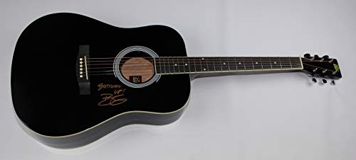 Brantley Gilbert Bottoms Up! Halfway to Heaven Signed Autographed Black Full Size Black Acoustic Guitar Loa