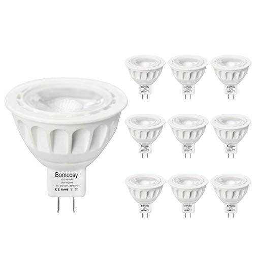 (10pack) MR16 LED Light Bulbs Warm White 3000K GU5.3 Spotlight with 420 Lumen Equivalent to 50W Halogen Bulbs,AC/DC 12V, 40 Degree Beam Angle (Halogen 10 Bulb Light Mr16)