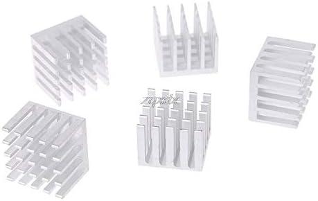 TL-ANALOG 5Pcs Cooling Heatsink Block DIY CPU GPU IC Memory Chip Aluminum Heat Sink 20x20x15mm Extruded Cooler Cooling Fin Fan Radiator Ju