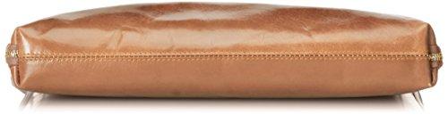 Fabriqué Fango en 38x28x7cm sac travail véritable de CTM 100 Italie cuir de femmes Gris serviette de p7PwUZ0B