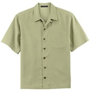 Upscale men 39 s short sleeve easy care camp for Mens short sleeve camp shirts