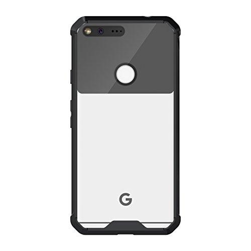 Cruzerlite Google Pixel XL Case, Defense Fusion Fender [TPU/Hard Plastic] Case for Google Pixel XL -  Retail Packaging - Black