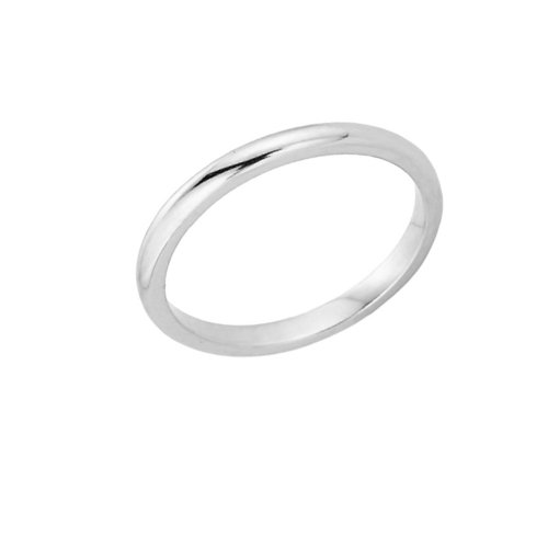 High Polish 925 Sterling Silver Baby Ring, Size 1.5