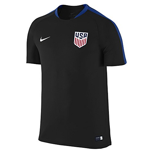 Nike United States Flash Training Soccer Jersey (Medium) Black
