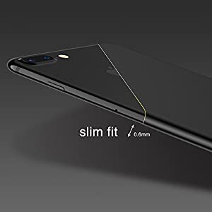 iPhone 8 Plus Case, iPhone 7 Plus Case, RANVOO Soft TPU Case Ultra Thin Slim Fit Anti-fingerprint Rubber Cover [Support Wireless Charging] for iPhone 8 / 7 Plus 5.5 Inch, Matte Black