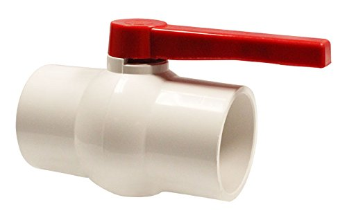 Hayward QVC1040SSEW 4-Inch White QVC Series Compact Ball Valve with Socket End Connection