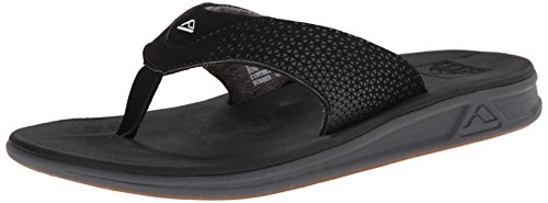 Reef Men's Rover Flip Flop, Black, 12 M US