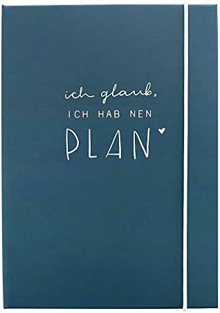 Odernichtoderdoch Sticky Notes Book Ich Glaub, ich hab NEN Plan - Notizbuch mit Klebezettel für Notizen - Maße A5 13 x 19 cm, Blau