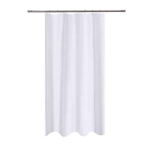 N&Y HOME Fabric Shower Curtain Liner White - 40 x 72 inch Bath Stall Size, Hotel Quality, Mildew Resistant, Washable, Water repellent, Spa, Bathroom Curtains with Grommets