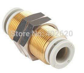 Maslin KQ2E08-00 (KQ2E0800) Pneumatic Bulkhead Union, M16x1 Thread, for 8mm OD(Outer Diameter) Tube