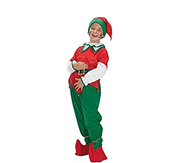 Disfraz de Duende Navideño para niños: Amazon.es: Juguetes y juegos