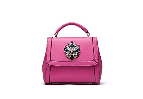 Sintética Mano Rojo Soild Cruz Pequeña Rosa Cuerpo Mujer Qckj Hombro Fashion Bolsa Bolso De q8RM60wpx