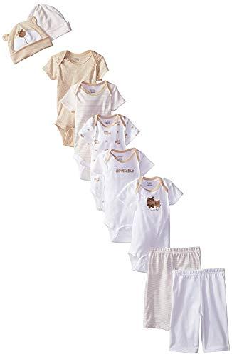 - Gerber Unisex-Baby Newborn Bear 9 Piece Playwear Bundle, Bear, 3-6 Months