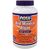 NOW Foods – Red Mineral Algae Vegetarian Calcium – 180 Vegetarian Capsules ( Multi-Pack)