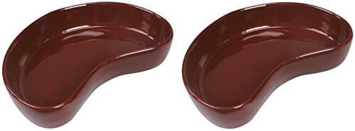 (2 Pack) Kidney Bowl Terrarium Dish, Small