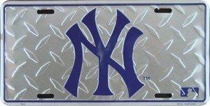 (New York Yankees Diamond Emboss Auto Tag)