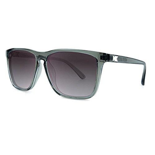 Knockaround Fast Lanes Polarized Sunglasses, Grey Monochrome Frames/Smoke Gradient - Men For Sunglasses Affordable