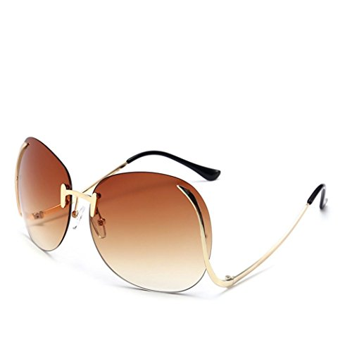 Fashion Sunglasses, Misaky Unisex Aviator Glasses Mirror Lens lentes de sol de mujer (Brown, - 2018 Fashion Sunglasses