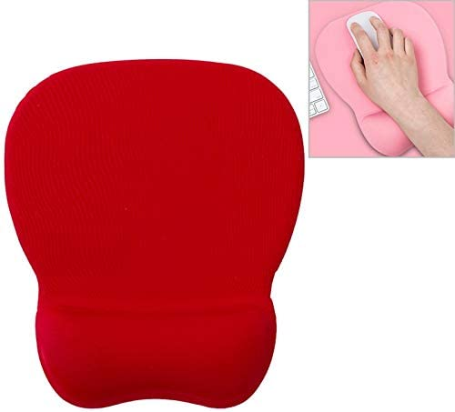 Oval Slow Rebound Memory Cotton Soft Bracer Mouse Pad Color : Red