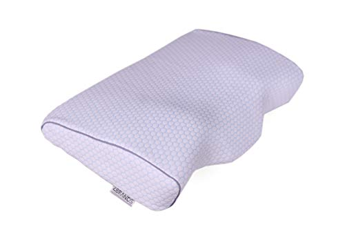 ZBRANDS Contour Memory Foam Pillow for Side Sleepers & Back Sleepers - Cervical Orthopedic Sleeping Pillow for Neck and Shoulder Pain Relief - Ergonomic Design with Neck and Back Support