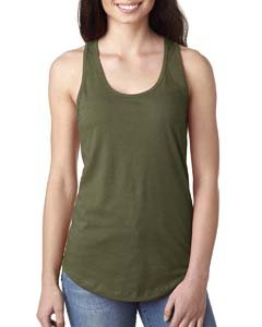 (Next Level Apparel Women's Ideal Racerback Tank - Medium - Military Green)
