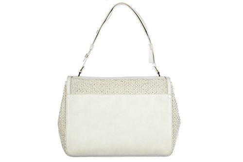 Proenza Schouler women's leather shoulder bag original courierr white