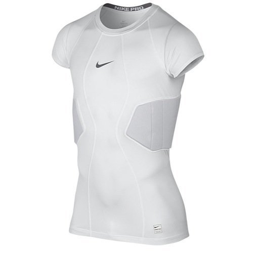 Nike Pro Core Hyperstrong 2-Pad Top, White / (Nike Rib)