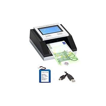 Pack Detector de Billetes Falsos EC350 EURO + Batería + Cable USB: Amazon.es: Electrónica