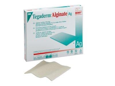 Tegaderm Alginate Ag Silver Dressing 4'' x 5'' (Pack of 3)