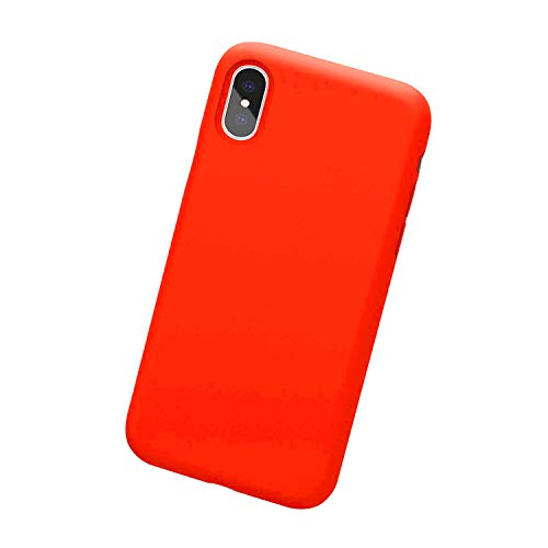 Case for iPhone X iPhone Xs Max Case soft silicone ultra thin Shockproof Cover Protective Slim Fit Case for Apple iPhone Xs Max 6.5 inch (Orange red, iPhone Xs Max case)