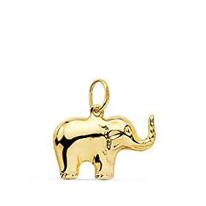 Alda Joyeros Colgante Elefante de la Suerte Oro Amarillo 18 ...