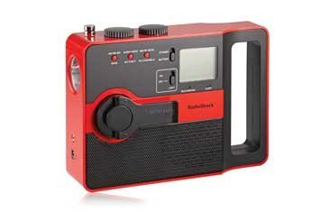 RadioShack Emergency AM/FM/WX Crank Radio (Red)