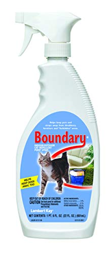 Lambert Kay Boundary Indoor/Outdoor Cat Repellent Pump Spray, 22-Ounce