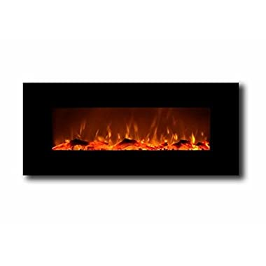 Touchstone 50  Onyx® Electric Wall Mounted Fireplace - Black