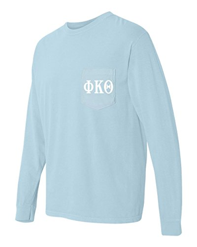 Phi Kappa Theta Fraternity Comfort Colors Pocket Long Sleeve Shirt (Medium, ()