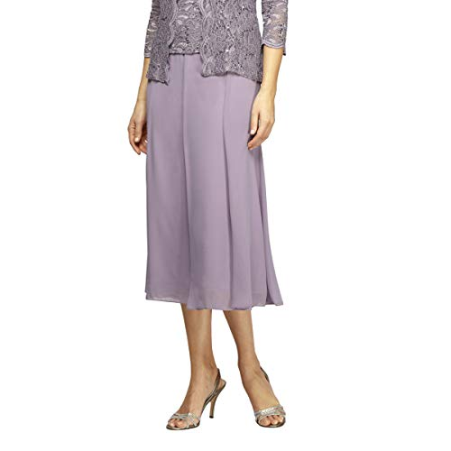 Alex Evenings Women's Petite Twinset Tank Top Jacket and Dress Pants or Skirt Outfit, ICY Orchid, X-LargeP