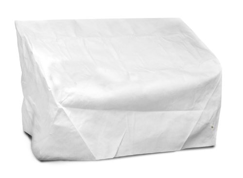 KOVERROOS DuPont Tyvek 22350 2-Seat/Loveseat Cover, 54-Inch Width by 38-Inch Diameter by 31-Inch Height, White by KOVERROOS