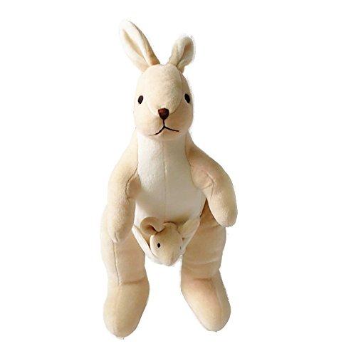 Lovely Carton Kangaroo Plush Toy Soft Animal Organic Cotton Baby Kids Adults Toys,Great Gift for Boys ang Girls