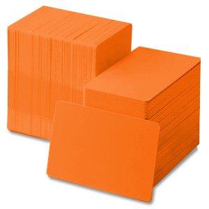 Orange 30 mil CR80 Graphic Quality PVC Cards 500/box