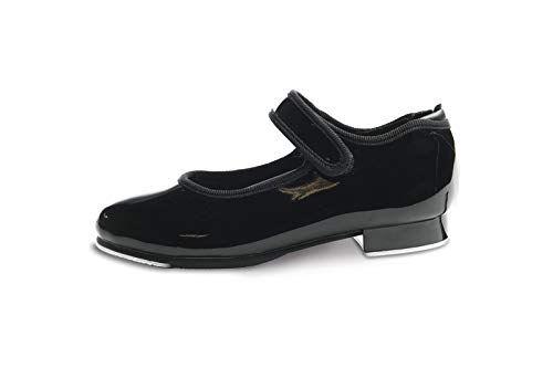 Danshuz Girls Black Patent Velcro Tap Shoes (Size - 12 Medium)