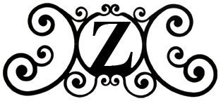 24 Inch House Plaque Letter Z