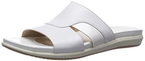 Naturalizer Women's Subtle Flat Sandal, White, 6 N US