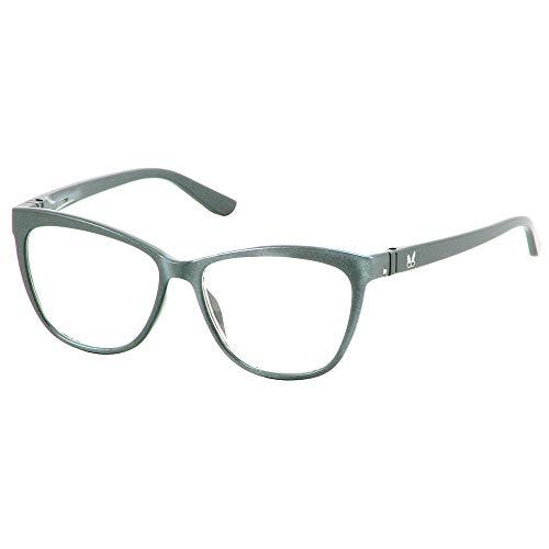 Bunny Eyez Stacy Wearable, Tilt-able, Flip-able Women's Reading Glasses (Silver Metallic, 150) ()
