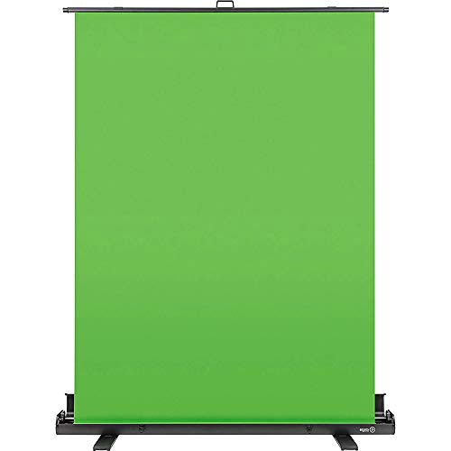 Elgato Green Screen - Collapsible chroma key panel for background removal with auto-locking frame, wrinkle-resistant chroma-green fabric, aluminum hard case, ultra-quick setup and breakdown - Chroma Studio