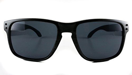 Retro black wooden square sunglasses (black, - Crap Sunglasses