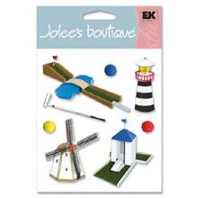 JOLEES Boutique Themed Ornate Stickers, Miniature -